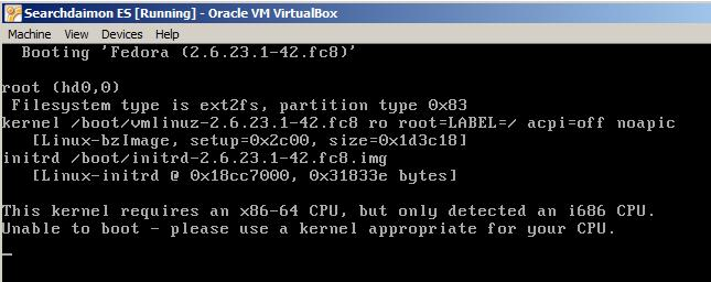 FAQ: VirtualBox specific - Searchdaimon Open Source