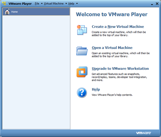 VMware Player installation - Searchdaimon Open Source Enterprise Search